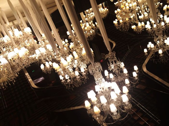 Chandeliers Reflection Deceptively Simple
