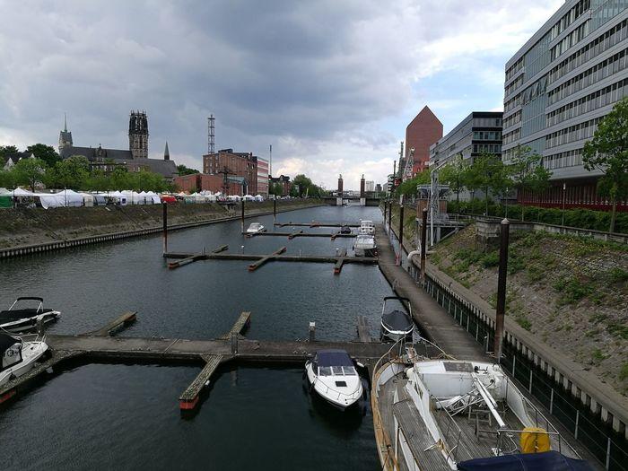 Marina Markt Duisburg Duisburg Innenhafen Duisburg Duisburg | Germany Marina Market Clouds And Sky Clouds Ship Ships River