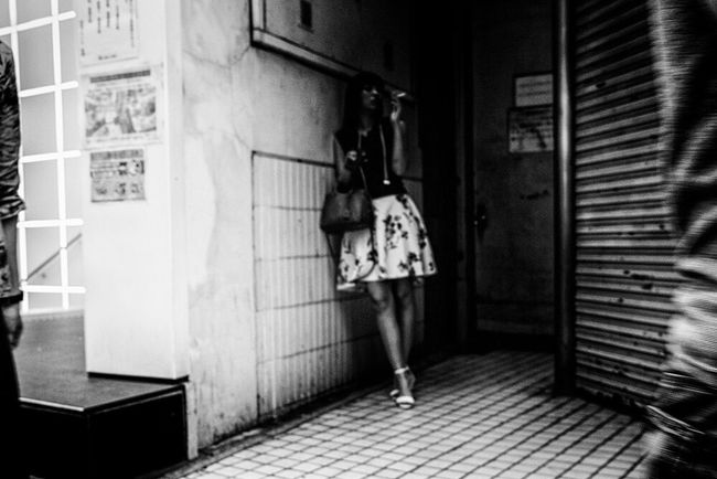 The Street Photographer - 2018 EyeEm Awards Blackandwhite Streetphotography One Person Real People Women Blackandwhite Streetphotography One Person Real People Women