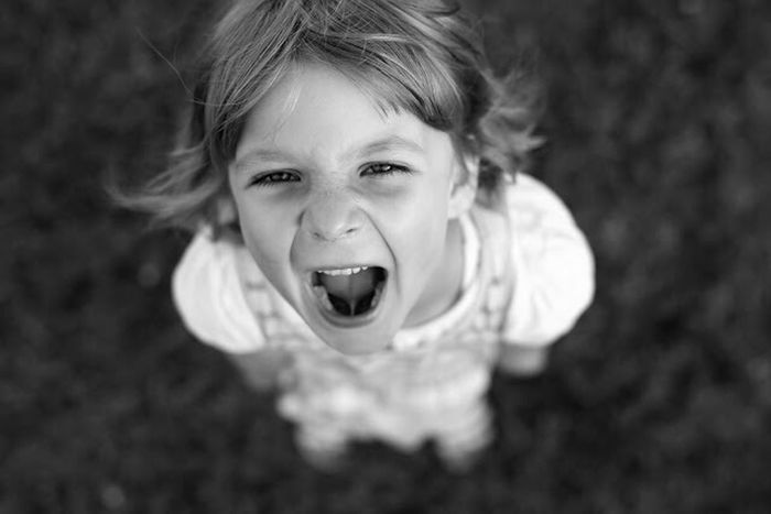 Black And White Girl Scream B & W  Portrait B&W Portrait