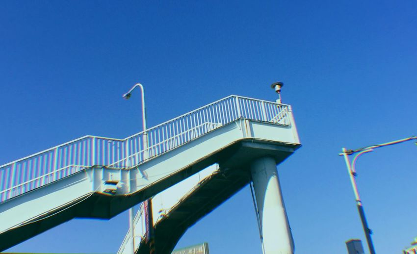 In Taiwan Tone Arm Style And Fashion Bridge - Man Made Structure Taipei City EyeEm Selects Sky Low Angle View Clear Sky Built Structure Blue Architecture Bridge Bridge - Man Made Structure