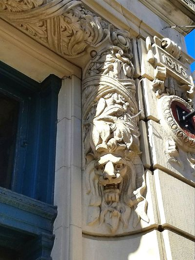 History Architecture Carving - Craft Product Religion Statue Sculpture Art Is Everywhere Carbondale Historical Building Travel Destinations City Arts Culture And Entertainment Building Exterior Low Angle View Built Structure Architecture