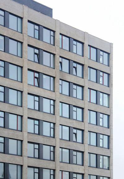 Architecture Building Exterior Built Structure Block Shape Clear Sky Balcony No People Day Sky Windows Apartment Building Concrete Concrete Building Brutalism Pattern Pattern, Texture, Shape And Form Leeds, UK