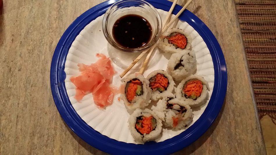 yum yum sushi for lunch hell ya....