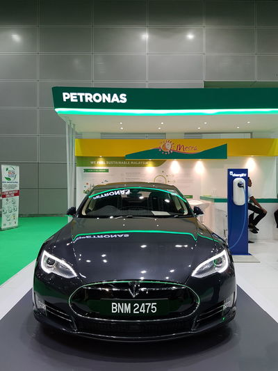 Tesla Tesla Model S Model S Malaysia ASIA Car Indoors  No People Night Illuminated Green Technology Cars Vehicle Electric Vehicle Charger Petronas