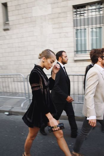 Golden Barbie Women Walking Well-dressed Day Real People Lifestyles Dior Pfw Paris ❤ Paris First Eyeem Photo