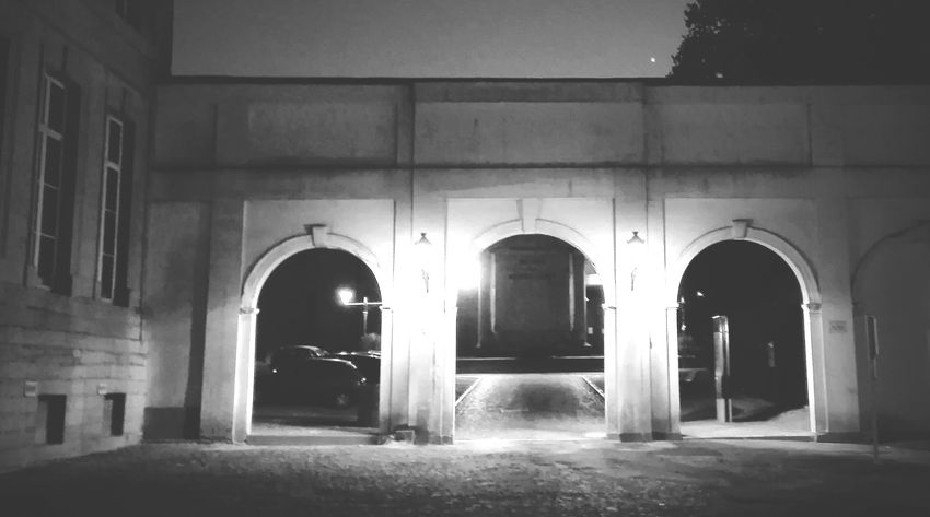 Arch Architecture Built Structure No People Belgium Europe Black And White Pierre Tournai Ville City City Street