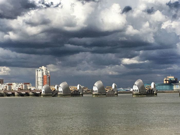 Lowering Skies ... Sky And Clouds River Thames Sky_collection EyeEm Best Shots Thames Barrier