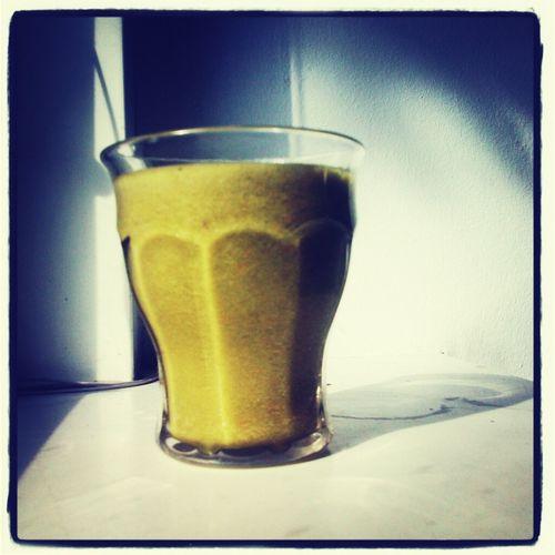 fighting the influenza with this yummy green smoothie Vegan Raw Green Smoothie Thx4cooking  Kickoftheday  Energykick