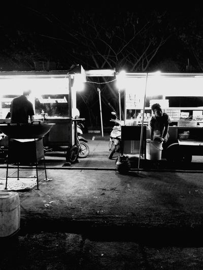 Real People Chair Men People Indoors  Women Night Adult Adults Only Street Vendor Black And White Street Photography PTB Maros