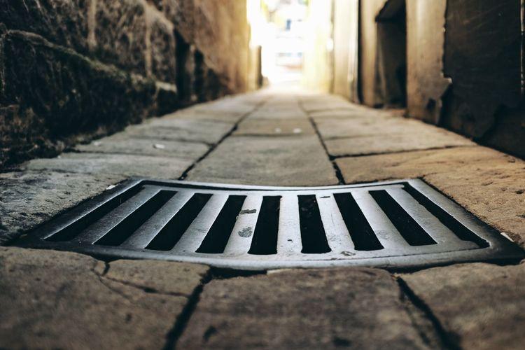 Sewage on footpath