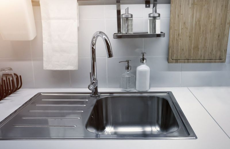 Close-up of faucet in kitchen