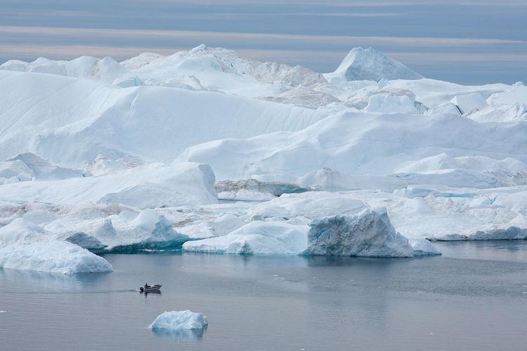 Landscape of glacier in greenland