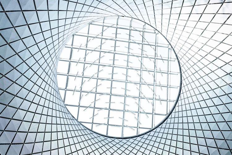 Full Frame Shot Of Skylight At Modern Building