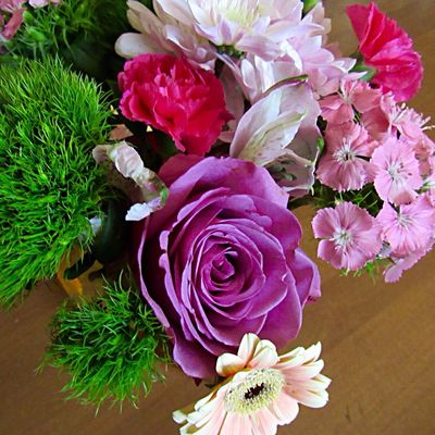 Market flowers 💐 Flower Beauty In Nature Freshness Pink Color Flower Arrangement High Angle View Flower Head Close-up Fragility Inflorescence Nature Indoors