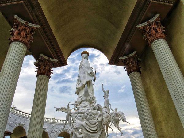 Sculpture Statue Place Of Worship Spirituality Religion Human Representation Sky Architecture Built Structure Sculpted Architectural Column Historic Building Art Angel City Gate Civilization