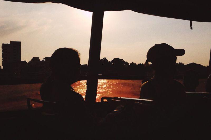 Sunset Silhouette Sunset Silhouettes Boat Life Bangkok Thailand