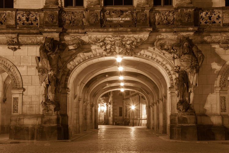 Architecture City Street Cityscape Night Lights Nightphotography Tranquility Adventure Arch Architectural Feature Architecture Architecturelovers Baroque Building Exterior Built Structure City Lights Day History Illuminated Indoors  Night No People Old Buildings Sepia Street Travel Destinations