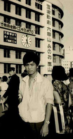 48年前の大阪駅前歩道橋にて