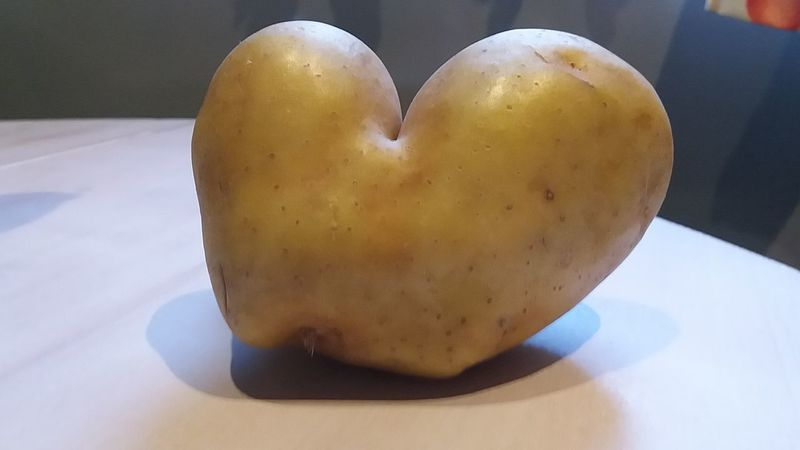 Patata Heart Shape Love Food Indoors  Healthy Eating Close-up Freshness Egg Yolk No People Day