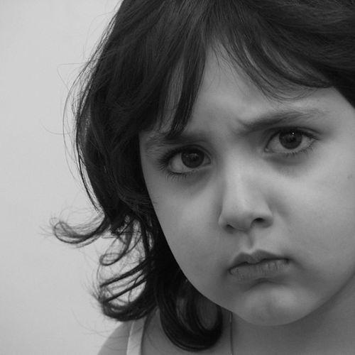 My beautiful angry niece Urban Portrate Minimalism Yalchi Persian Girl Babygirl Bw Iran Tehran Portrait