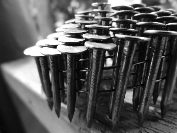 Nails Metal Steel Iron Nature And Industry Focus On Foreground Construction Work Construction Intricate Photography Blackandwhite Photography Curves And Lines Beautifully Organized