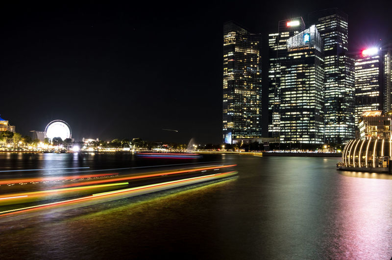 Singapore Marina Bay Marina Bay Sands Nightview