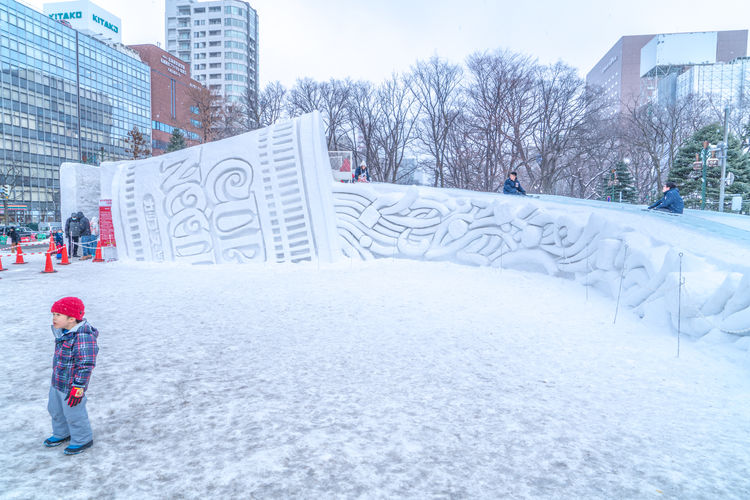 Sapporo Snow Festival Feb 2018 Japan Japan Photography Japanese  Sapporo,Hokkaido,Japan Snow ❄ Architecture Bare Tree Building Building Exterior Built Structure Childhood City Cold Temperature Covering Day Nature Noodle Office Building Exterior Outdoors Plant Real People Sapporo Slider Snow Snow Covered Snowing Tree Warm Clothing White Color Winter