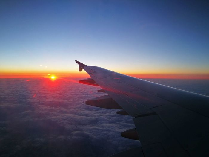 Flying Business Finance And Industry Airplane Journey Cloud - Sky Sunset Sunlight 제주도 Leica Huawei P9 First Eyeem Photo Tourism JEJU ISLAND  Comeback Travel