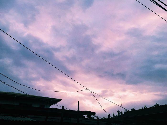 Sky Cloud - Sky Outdoors Nature Purple Sky