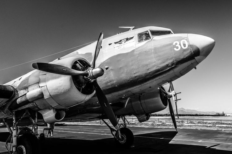 A workhorse in World War II, the C-47 used for ferrying passengers, dropping airborne troops, and carrying cargo. Airplane C-47 Cargo Plane Commemorative Air Force DC-3 Falcon Field, Mesa, AZ Military Sky World War II EyeEmNewHere