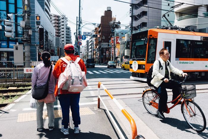 Tram Tokyo Street Photography Streetphotography Orange Color Tokyo Tokyo,Japan Afternoon Tram Station  Snapshots Of Life City Life Asian City Street Sony Sony Rx100 Rx100