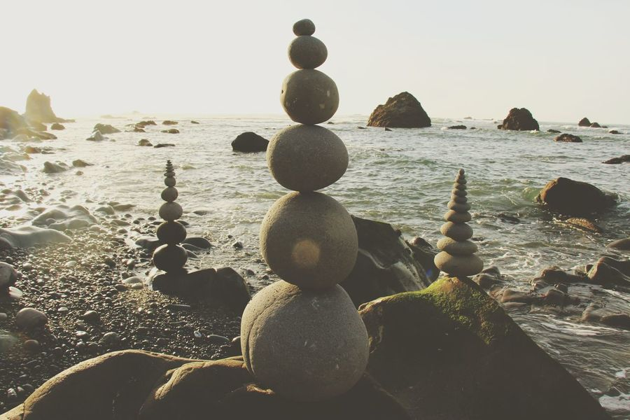 Beach Rock - Object Nature Outdoors Beauty In Nature Rockstacking Relaxation Sea Balance Tranquility Perspectives On Nature Rethink Things