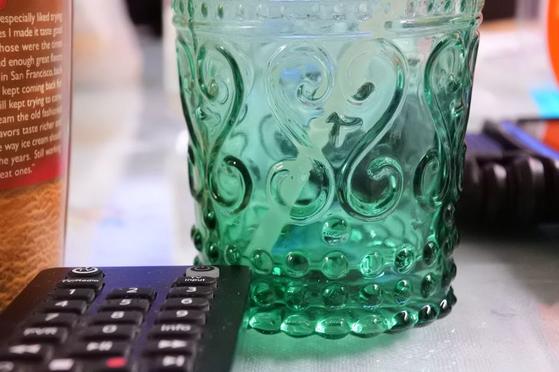 Glass Close-up Indoors  No People Green Color Table Finance Still Life Pattern Glass - Material Drink