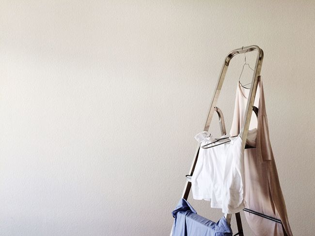 Hanging Coathanger Bag No People Clothesline Laundry Indoors  Clothespin Hygiene Drying Day