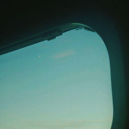Moon Inthetrain Bluesky