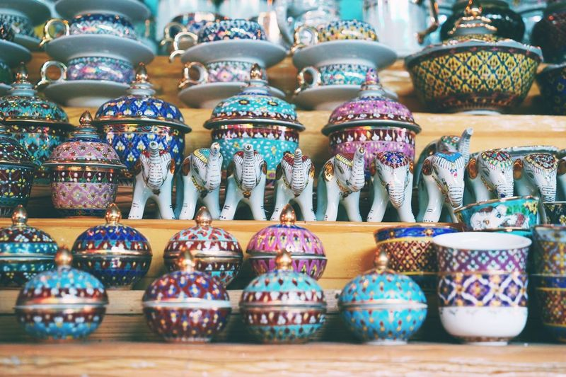 Bangkok Art And Craft For Sale Craft Ceramics No People Multi Colored Retail