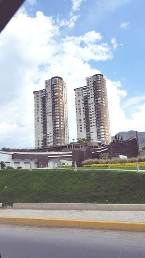 Luxury towers Architecture Sky No People City Modern Day Cloud - Sky Mexico Chiapas Green Blue Colors Simple Photography