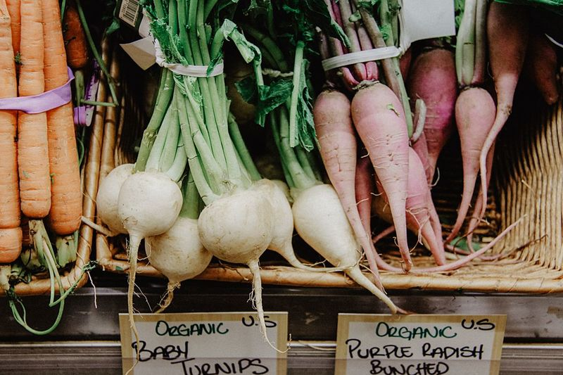 Organic Vegetable Variation Healthy Eating Organic Food And Drink Choice Text Root Vegetable Market Food For Sale Large Group Of Objects Raw Food Freshness Day Price Tag Communication Retail  No People Outdoors