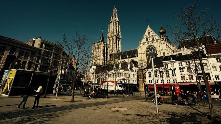 Antwerpen City Life March 2019 Cityscape City View  Built Structure Architecture Building Exterior Sky Building City Nature Travel Destinations Place Of Worship Belief Spirituality Tourism Outdoors Spire  Religion Travel Tower Day Antwerpen