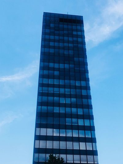 Berlin Travel Destinations Skyscraper Tower Modern Office Blue City Tall - High Built Structure Architecture Sky Building Exterior Office Building Exterior Low Angle View