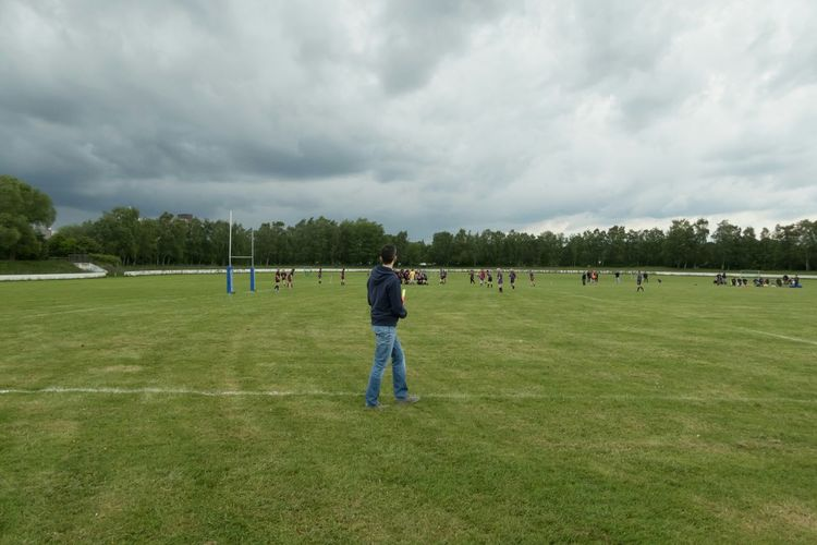 Rugby match in