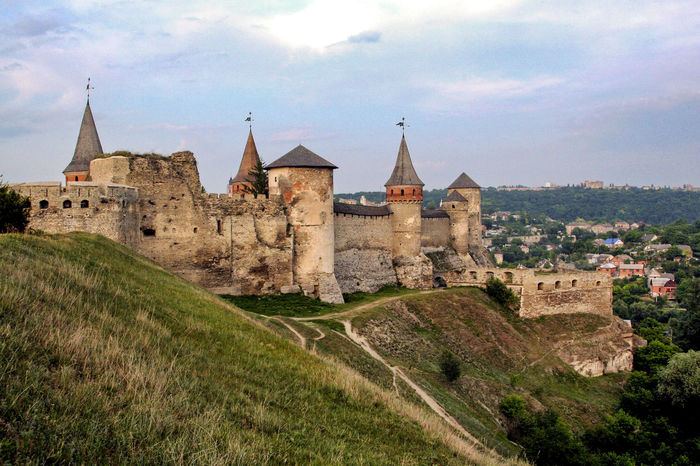 Castle Ukraine Architecture Building Exterior Built Structure Castle Cloud - Sky Day Fortress History Kamenets-Podolsky No People Outdoors Sky Travel Destinations Your Ticket To Europe