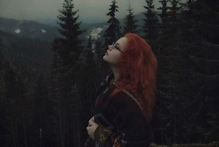 Redhead Only Women Side View Fog Long Hair Beauty Beautiful Woman EyeEm Best Edits EyeEm Best Shots The Weekend On EyeEm Sony A7 Landscape