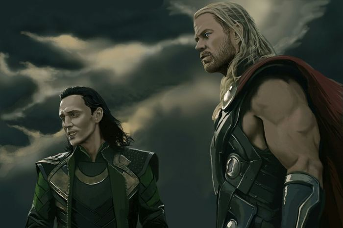 Thor  & Loki !!! Sketch Art This Is PAINT Marvel Drawing Avengers мстители