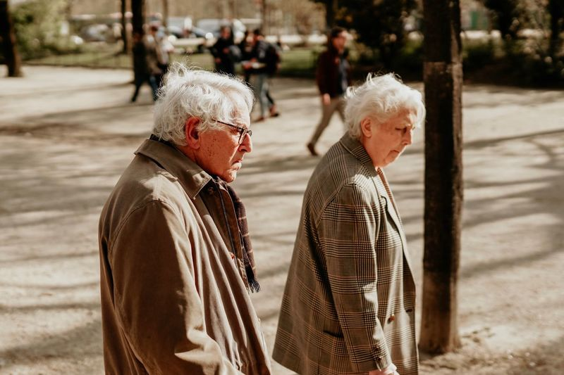 Senior Adult Day Adult Real People Focus On Foreground Two People Women Lifestyles Casual Clothing Men People Togetherness Walking Clothing Nature Senior Women The Art Of Street Photography