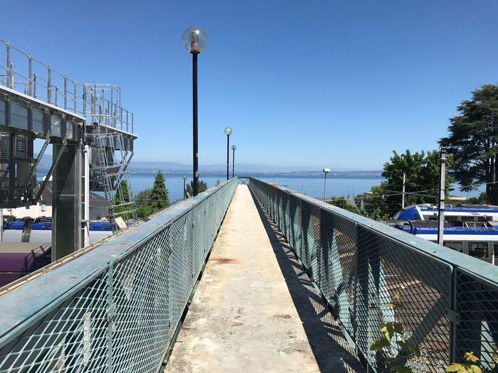 The Way Forward Architecture Bridge Bridge - Man Made Structure Evian Evian Les Bains Clear Sky Built Structure Street Light