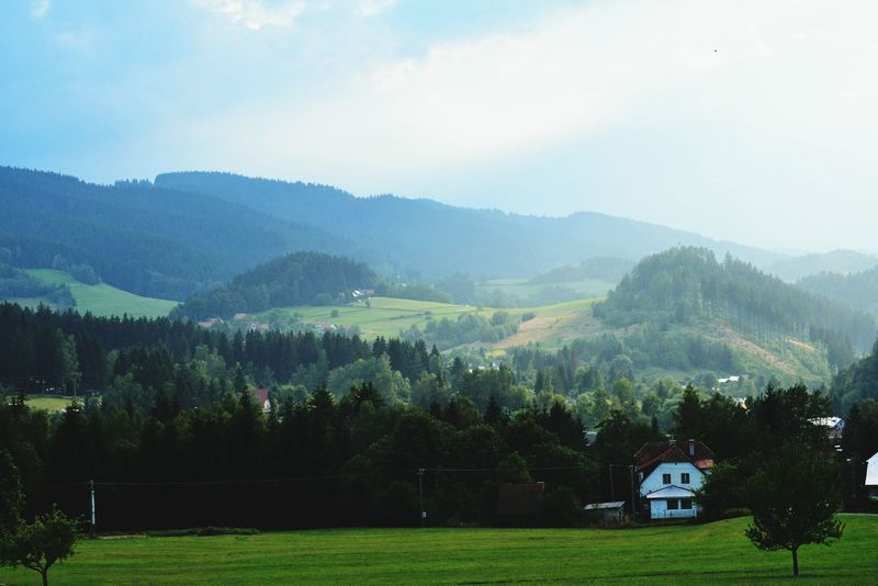 Mountain Mountain Range Landscape Outdoors Nature Day Czech Republic Beskydy