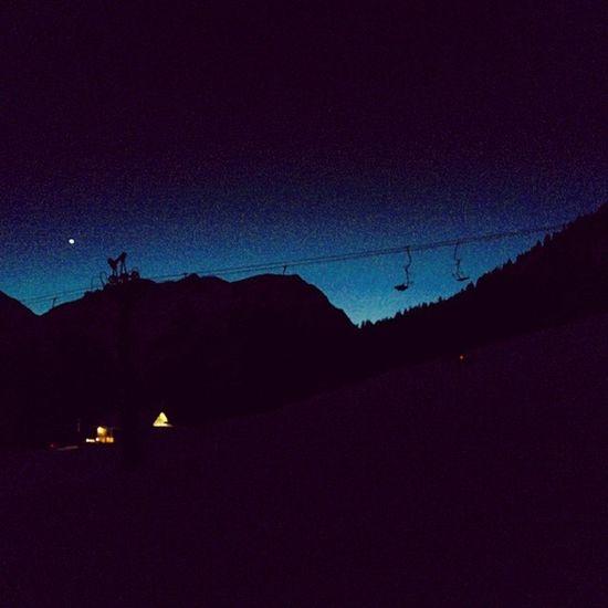Lech Slope Night Chairlift austria arlberg