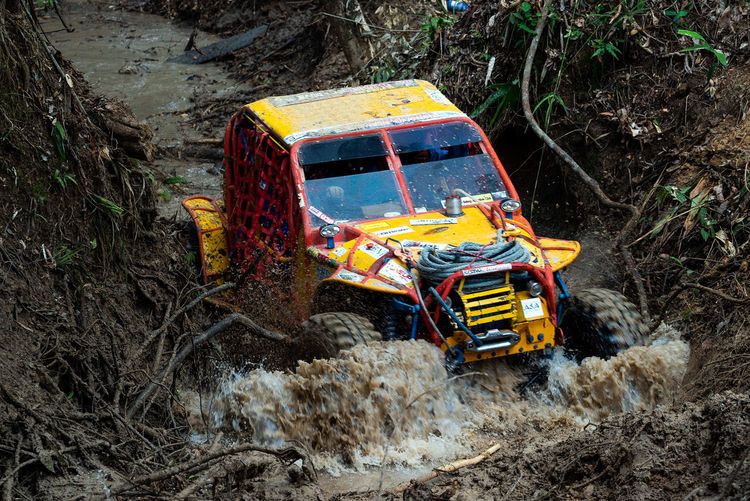 Offroad Adventure Transportation Mode Of Transportation Nature Land Vehicle Motor Vehicle Day Dirt Land Car No People Field Truck Landscape Plant Environment Road Outdoors Motion High Angle View Multi Colored Mud 4x4 4x4wd 4x4 Off-road Team Offroad